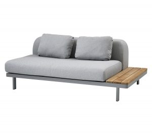 Space 2-Sitzer-Sofa Cane-Line mit Teakplatte